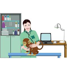 Animal medical treatment template vector