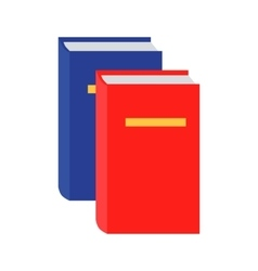 Blue and Red Book Icon in Flat vector image