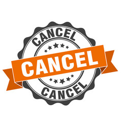 Cancel stamp sign seal vector