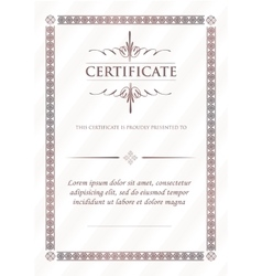 certificate template and element vector image