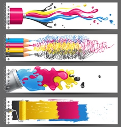 cmyk banners vector image vector image