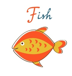 F is for Fish format vector image vector image