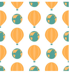 globe earth geography element seamless pattern vector image