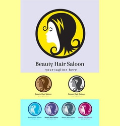 Hair saloon logo vector