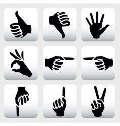 Hands signs vector