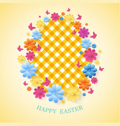 happy easter day greeting card eps10 vector image