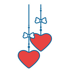 hearts hanging icon vector image vector image