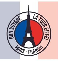 Paris Landmarks design vector image vector image