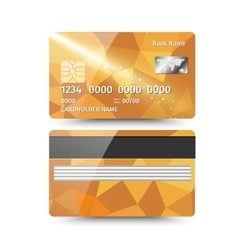 Realistic detailed credit card with abstract vector