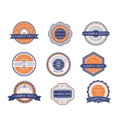 Retro labels and frames vector image