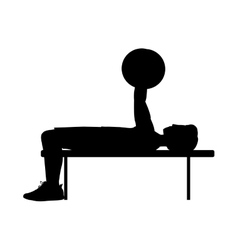 Silhouette with man weightlifting sport vector