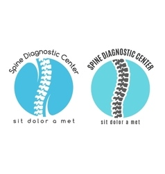 Spine medical diagnostics symbol or logo vector image vector image