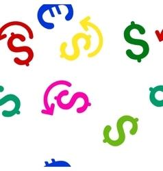 Undo payment flat seamless pattern vector