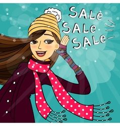 Winter shopping sale vector image