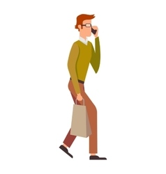 People talking phone character vector