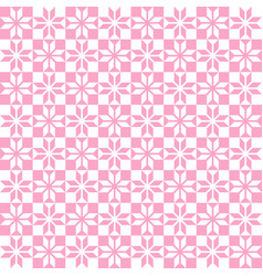 Pink geometric pattern seamless vector