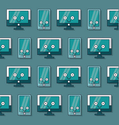 Colorful background with pattern of lcd monitors vector