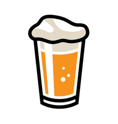 Beer pint glass icon vector