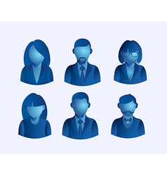 Social media people user icons set vector