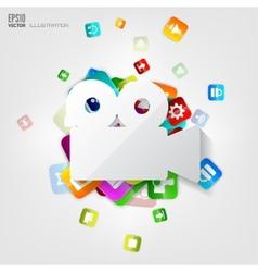 Video camera icon Application buttonSocial media vector image