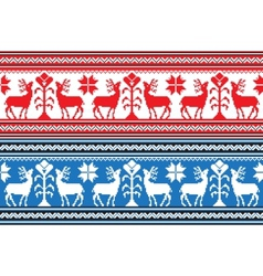 Set of ethnic holiday ornament pattern in vector