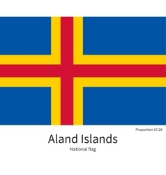 National flag of aland islands with correct vector