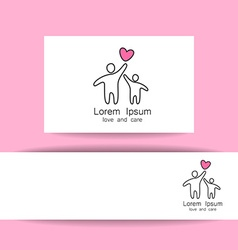 Love care logo template vector