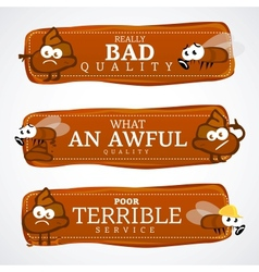 Bad quality banner set vector