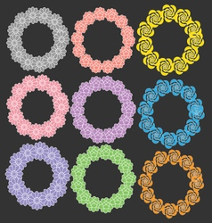 Circle with flower vector