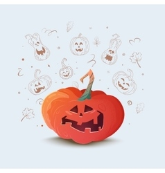 a pumpkin for Halloween vector image