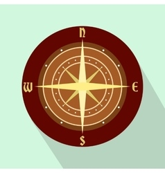 An ancient compass flat icon vector image