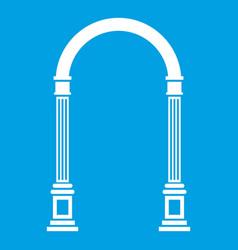 Arch icon white vector