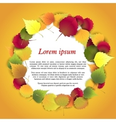 Autumn background with colorful leaves in vector image