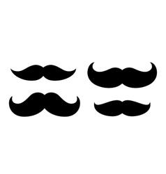 Black icon moustache vector