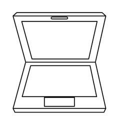 Black line laptop vector