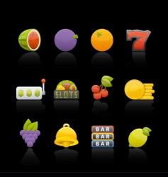casino fruit vector image