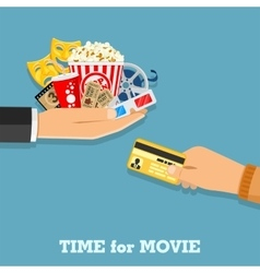 Cinema and movie time vector