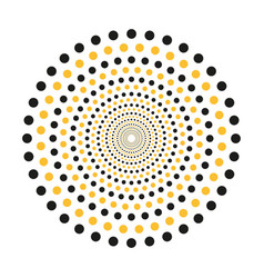 Concentric dots in circular form abstract vector