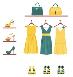 Fashion items vector