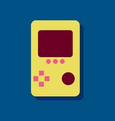 Flat icon design tetris portable game in sticker vector