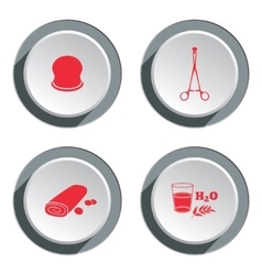 Health medicine ambulance icon set Medical vector image