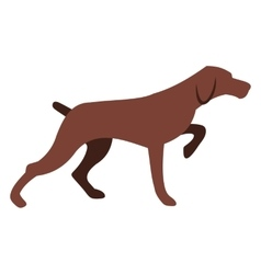 Hunting dog icon vector