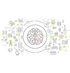 Icons of human brain activity vector