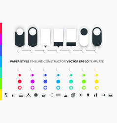 infographic timeline constructor paper style vector image