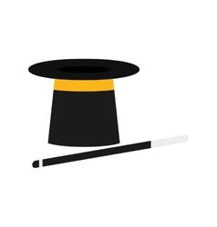 isolated magician hat vector image vector image