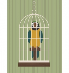 parrot in cage vector image