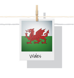 Photo of wales flag vector
