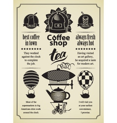 retro Coffee and tea vector image vector image