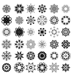 Set of different rosettes vector