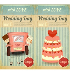 Set of wedding invitation vector